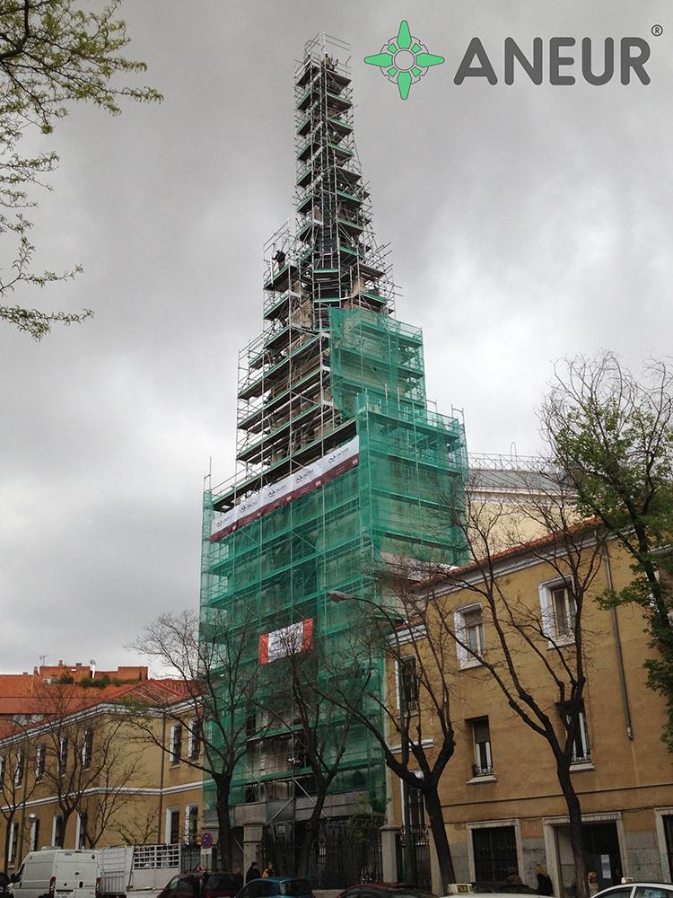 Andamios torre edificios Madrid